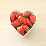 Strawberry with love Royalty Free Stock Photo