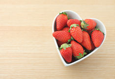 Strawberry with love Royalty Free Stock Photos