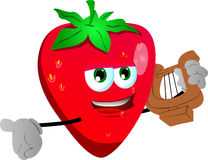 Strawberry with lyre Stock Image