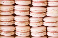 Strawberry macarons Royalty Free Stock Photos
