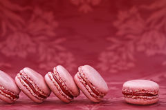 Strawberry Macarons Stock Images