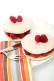 Strawberry macaroons Stock Image