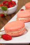 Strawberry Macaroons Stock Images