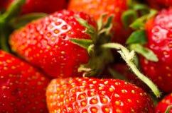 Strawberry macro. As a background Stock Photo