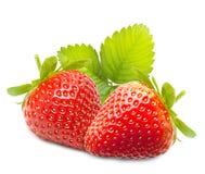 Strawberry macro. Isolated on white Stock Photos