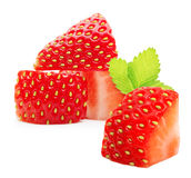 Strawberry macro. Isolated on white Stock Images