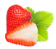 Strawberry macro. Royalty Free Stock Image