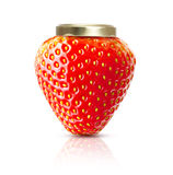 Strawberry macro like jam jar Royalty Free Stock Image