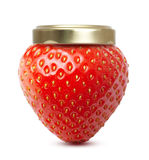 Strawberry macro like jam jar Stock Image