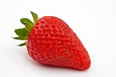 Strawberry macro shot. Strawberry. Macro shot on white background stock photography