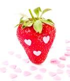Strawberry macro  on white background Royalty Free Stock Image