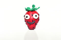 Strawberry made from plasticine. Stock Image