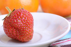 Strawberry, mandarin, orange, banana, many different fruits for the health of the entire family Royalty Free Stock Photos