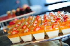 Strawberry and mango desserts Stock Photography