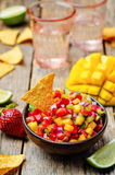 Strawberry mango pepper salsa Royalty Free Stock Image