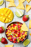 Strawberry mango pepper salsa Stock Image
