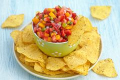 Strawberry mango salsa Stock Photography