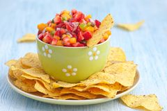 Strawberry mango salsa Royalty Free Stock Photos