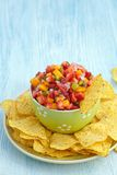 Strawberry mango salsa Stock Image