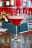 Strawberry margarita. On a bar shelf Royalty Free Stock Image