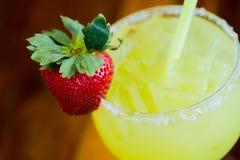 Strawberry Margarita at Bar Royalty Free Stock Photo