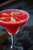 Strawberry margarita cocktail Royalty Free Stock Image