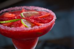 Strawberry margarita cocktail Stock Images
