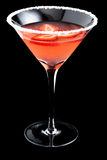 Strawberry margarita cocktails on black background Royalty Free Stock Photo