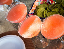 Strawberry margarita cocktails Royalty Free Stock Images