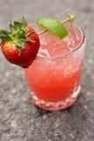 Strawberry Margarita. Freshly shaken margarita on the rocks Stock Photography