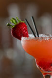 Strawberry margarita garnish Stock Image