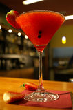 Strawberry Margharita. In a bar Stock Image