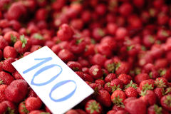 Strawberry market Stock Photos