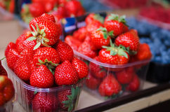 Strawberry at market Royalty Free Stock Photography