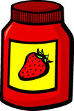 Strawberry marmalade jar vector illustration Royalty Free Stock Image