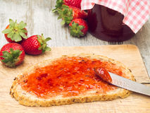 Strawberry Marmalade Stock Photography