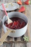 Strawberry marmalade Stock Photos