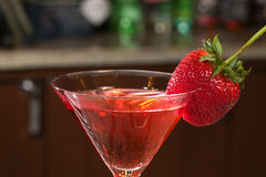 Strawberry Martini Royalty Free Stock Photo