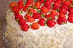 Strawberry and mascarpone cake Royalty Free Stock Images