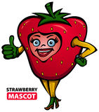 Strawberry Mascot Royalty Free Stock Image