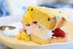 Strawberry meringue Cake Royalty Free Stock Image