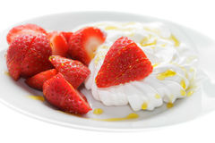 Strawberry and Meringue Stock Photo