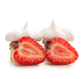 Strawberry meringue pie Royalty Free Stock Images
