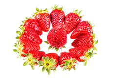 Strawberry in the middle Royalty Free Stock Photos