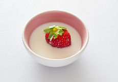 Strawberry and milk Stock Image