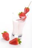 Strawberry milk Stock Photos