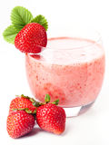 Strawberry milk cocktail Royalty Free Stock Photos