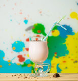 Strawberry milk coctail Royalty Free Stock Images