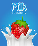 Strawberry Milk Stock Images