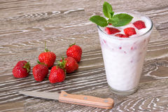 Strawberry milk Royalty Free Stock Images